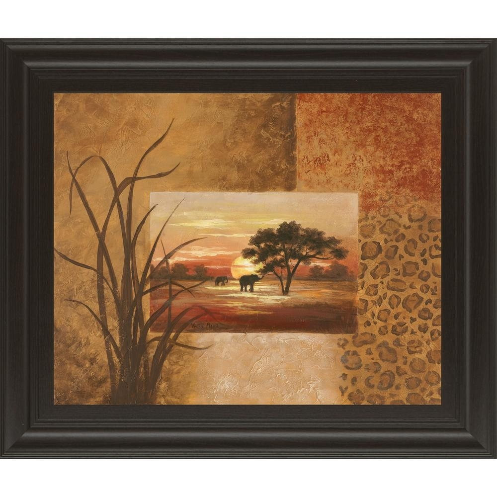 "Classy Art 22 In. X 26 In. ""african Elephant""vivian Flasch pertaining to African Wall Art (Image 11 of 20)"