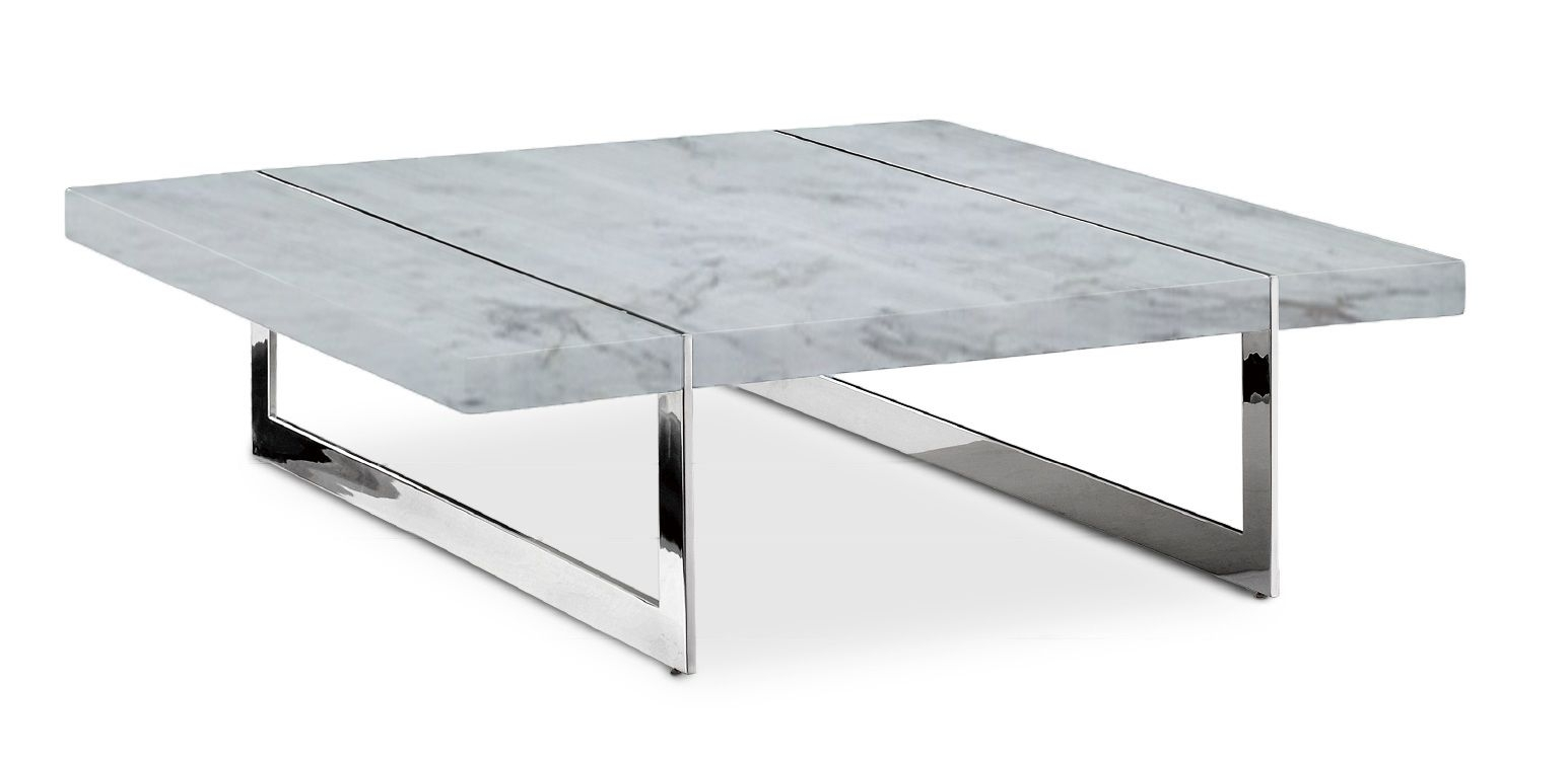 Cleo Modern Marble Coffee Table | Coffee Tables | Pinterest in Large Slab Marble Coffee Tables With Antiqued Silver Base (Image 8 of 30)