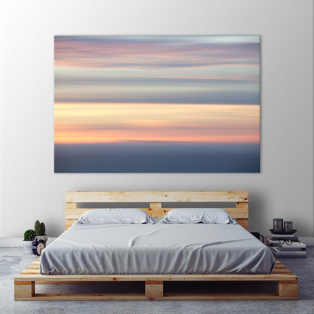 "Clicart 48 In. X 72 In. ""ocean Kisses Sky""erle Kacee Printed inside Ocean Wall Art (Image 10 of 20)"
