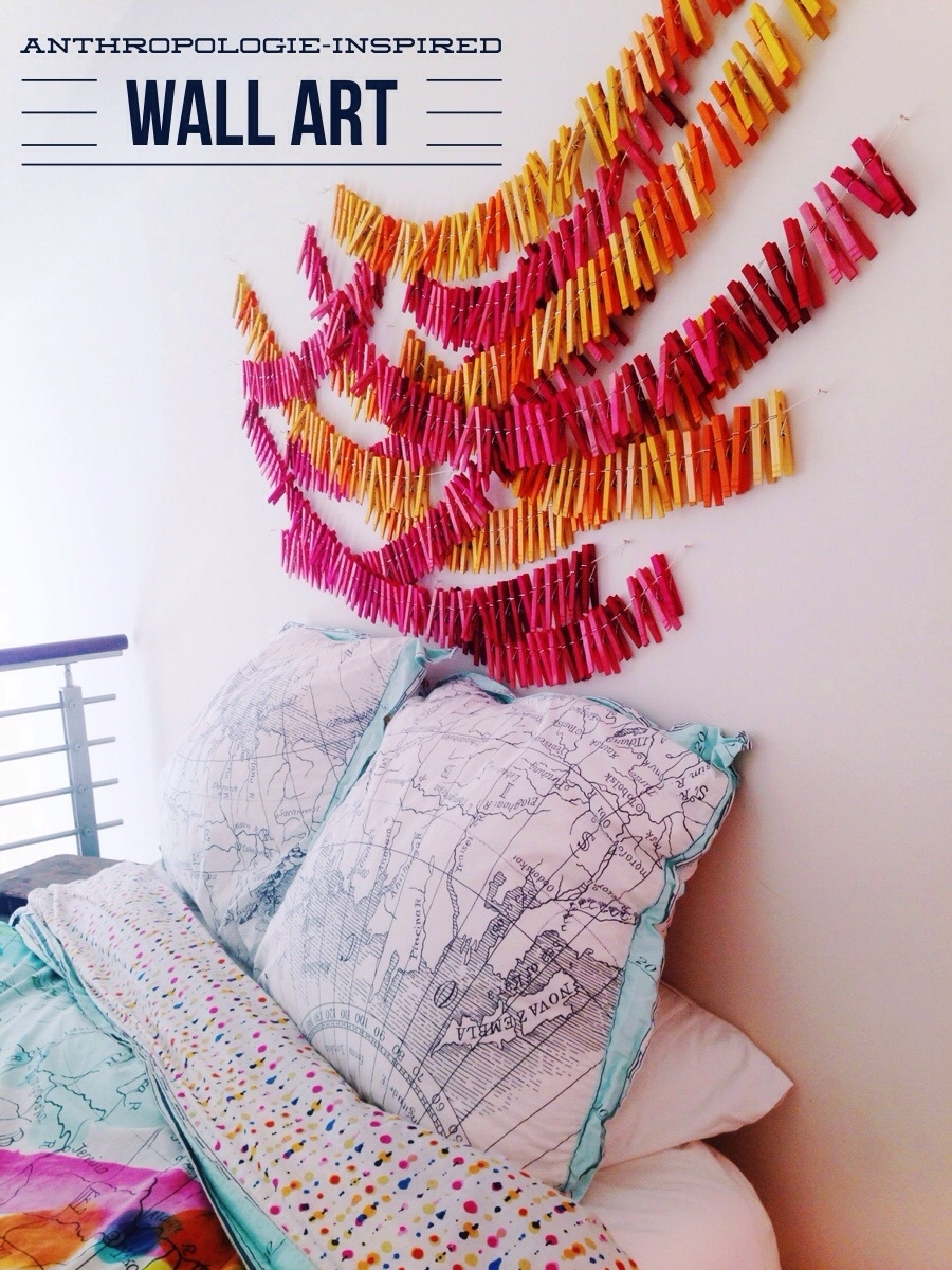 Clothespin Wall Art • Your Biggest Fan, Grace intended for Anthropologie Wall Art (Image 7 of 20)