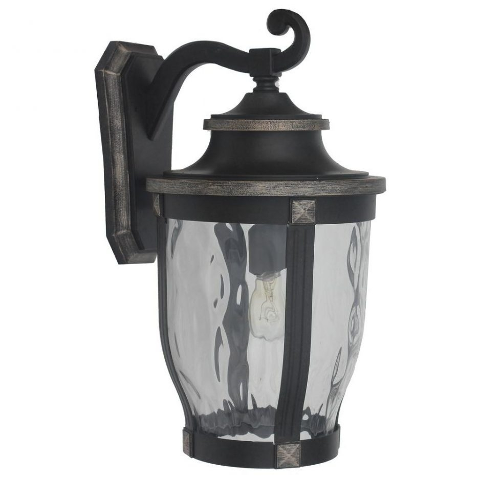Coach Lantern Wall Light Black Outdoor Lantern Lights Black Outdoor inside Outdoor Lanterns and Sconces (Image 6 of 20)