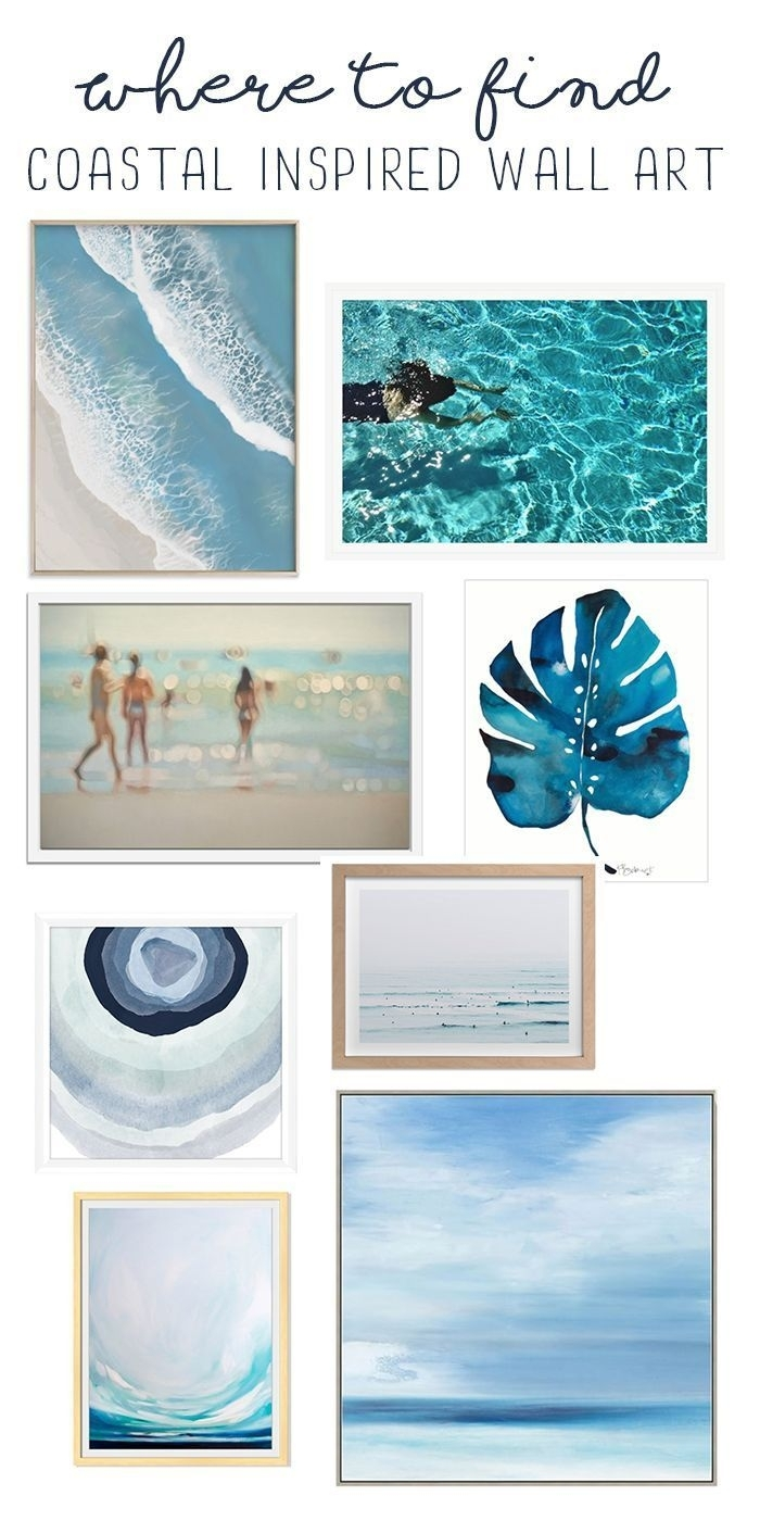 Coastal Wall Art - Where To Find Light And Bright Beachy Wall Art with regard to Coastal Wall Art (Image 7 of 20)