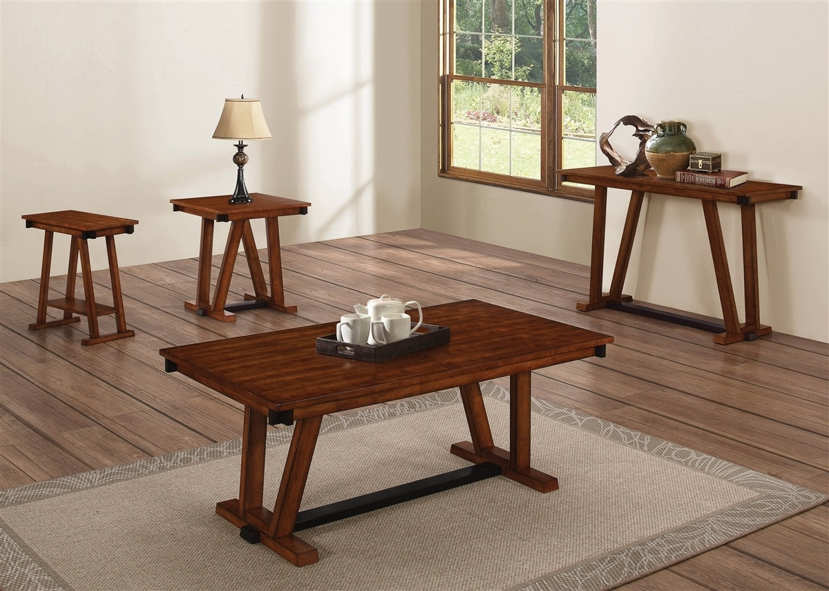 Coaster Knottley 704288 Brown Traditional Coffee Table with Traditional Coffee Tables (Image 6 of 30)