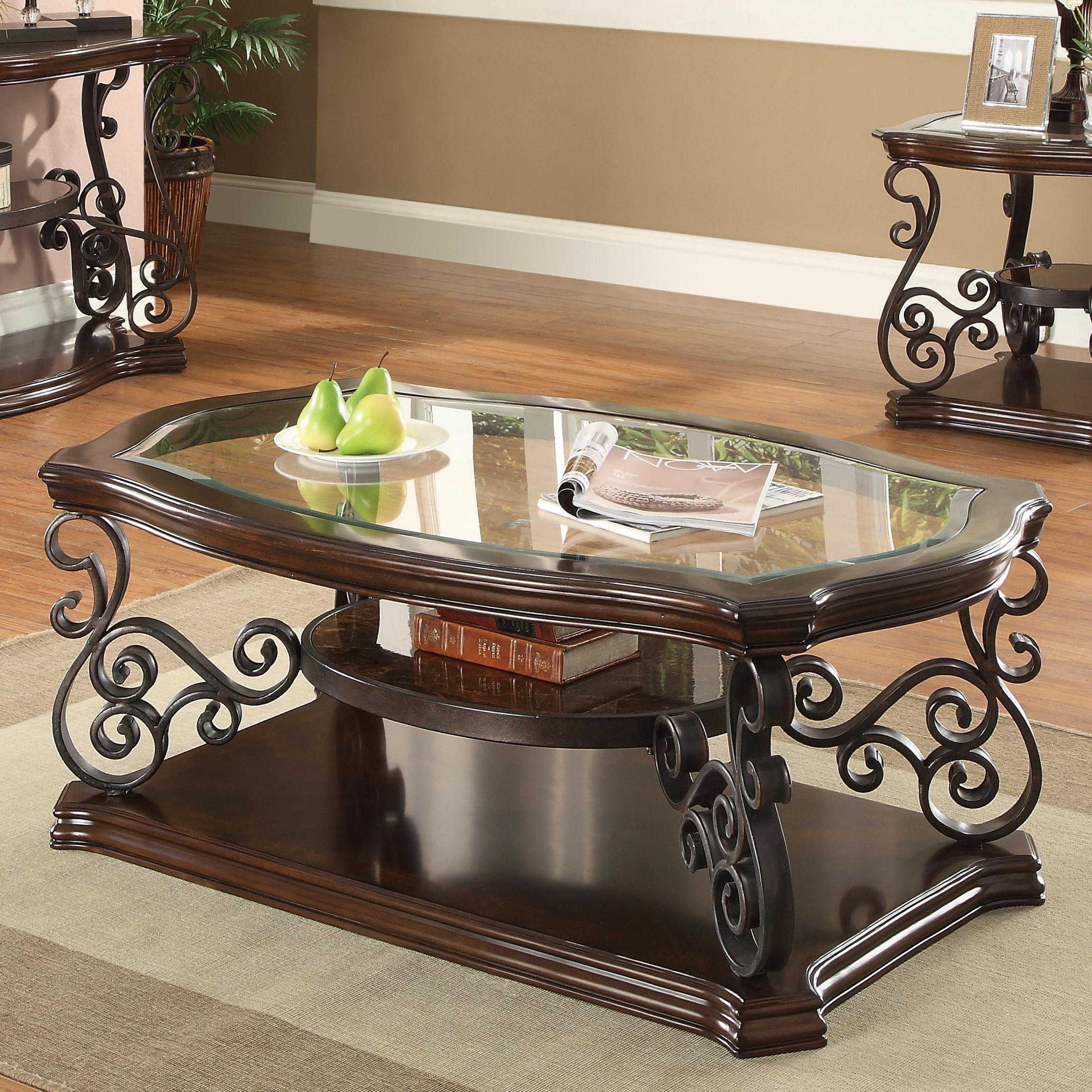Coaster Occasional Group 702448 Traditional Coffee Table With pertaining to Traditional Coffee Tables (Image 7 of 30)