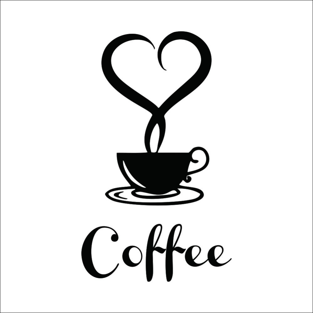 Coffee Cup Vinyl Wall Sticker Coffee Shop Restaurant Wall Decor regarding Coffee Wall Art (Image 7 of 20)
