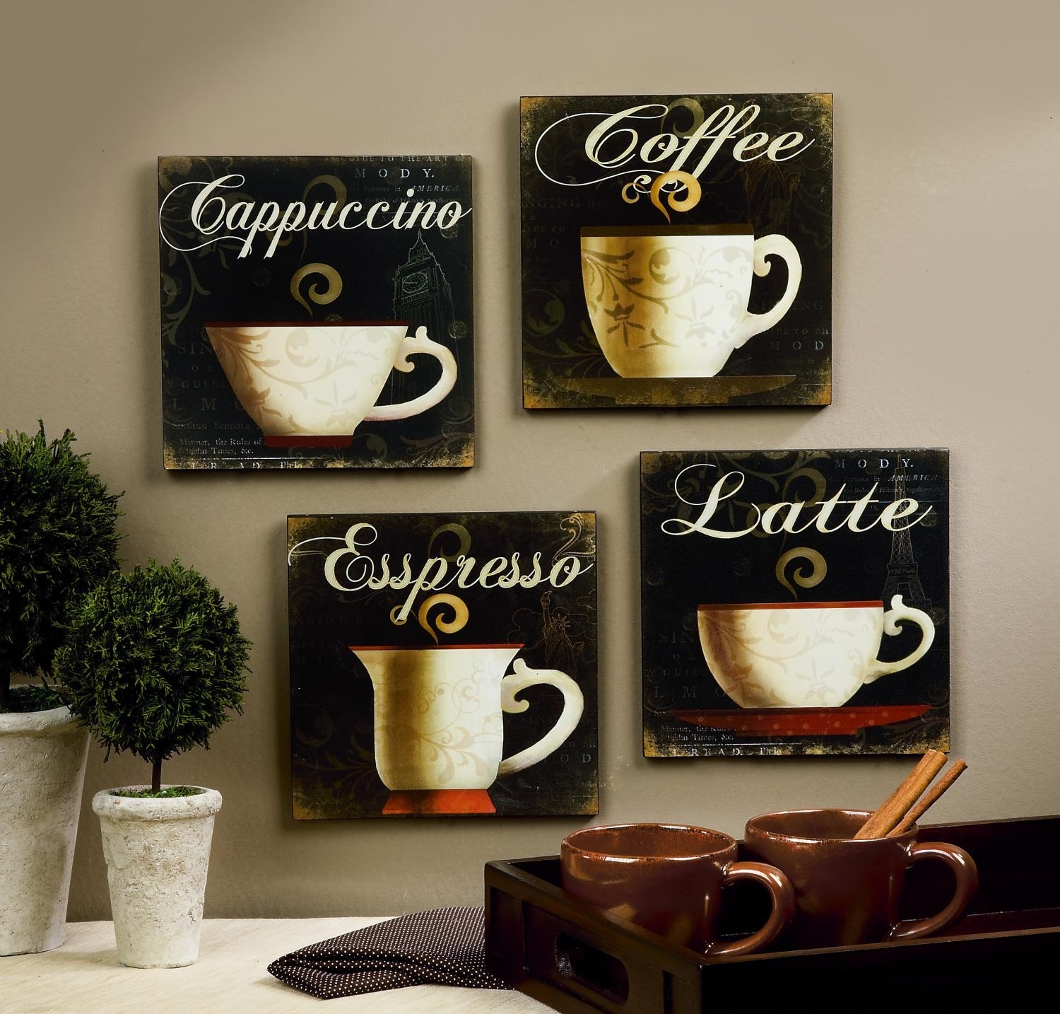 Coffee Kitchen Wall Decor Diy - Gpfarmasi #25436E0A02E6 with Coffee Wall Art (Image 9 of 20)