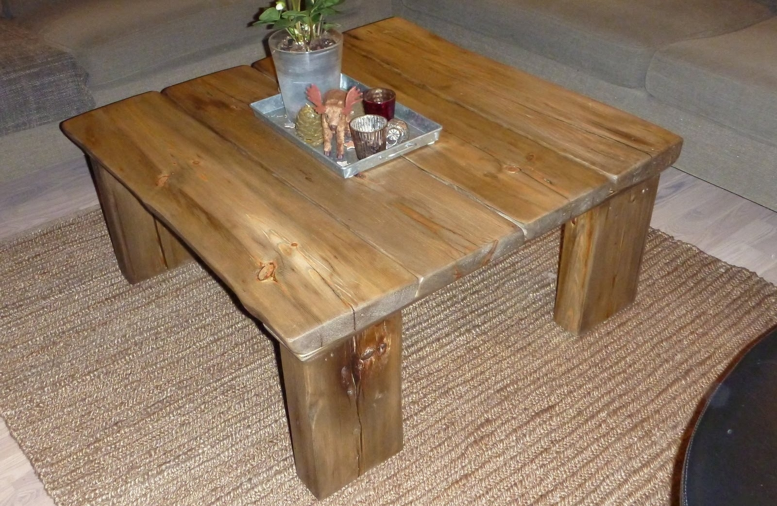 Coffee Table From Reclaimed Wood - Youtube intended for Mill Large Coffee Tables (Image 2 of 30)