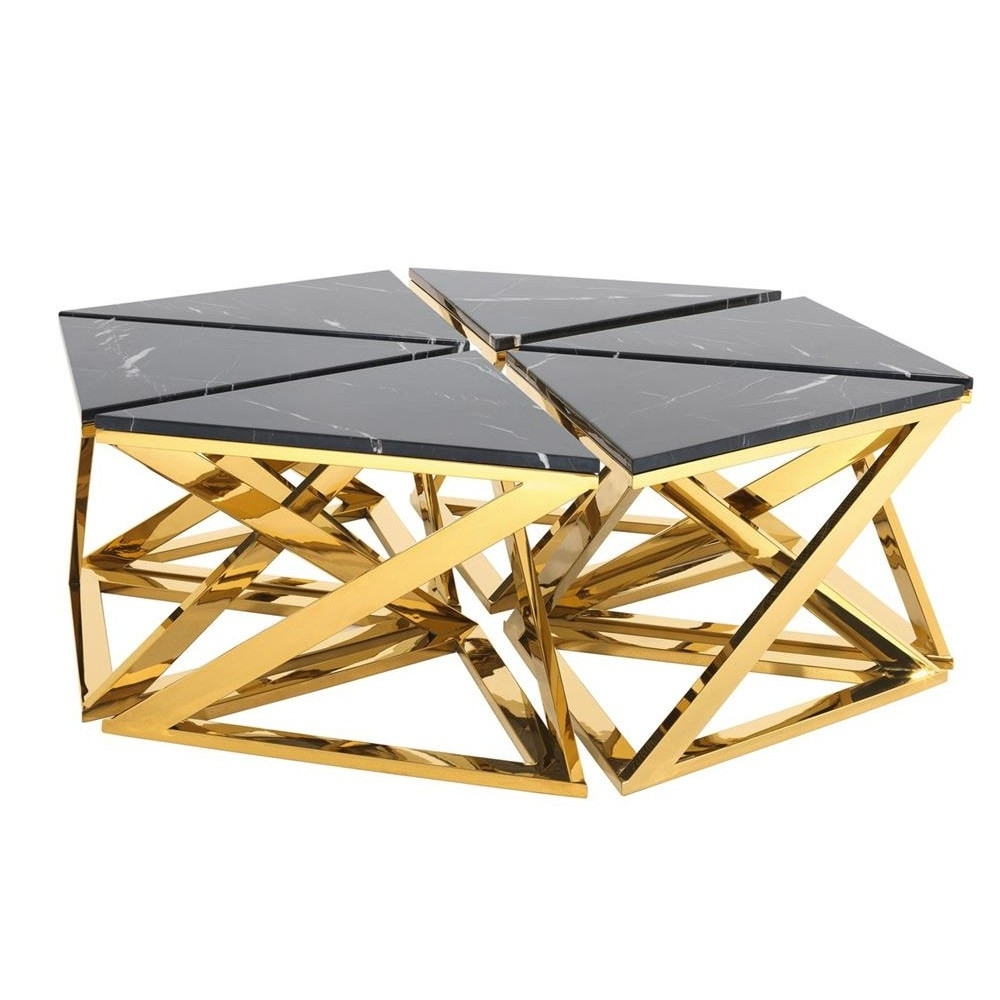 Coffee Table Gold - Table Design Ideas with regard to Cuff Hammered Gold Coffee Tables (Image 1 of 30)