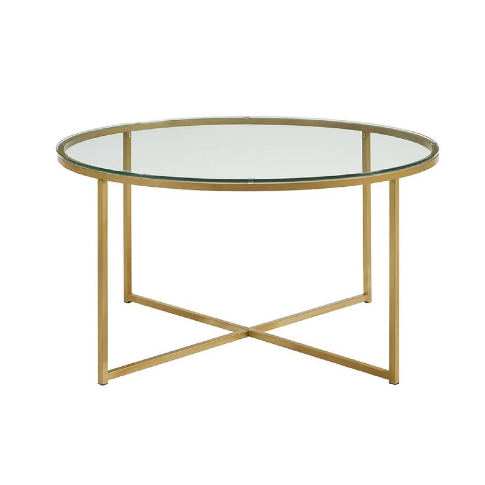 Coffee Table Gold - The Coffee Table in Cuff Hammered Gold Coffee Tables (Image 2 of 30)