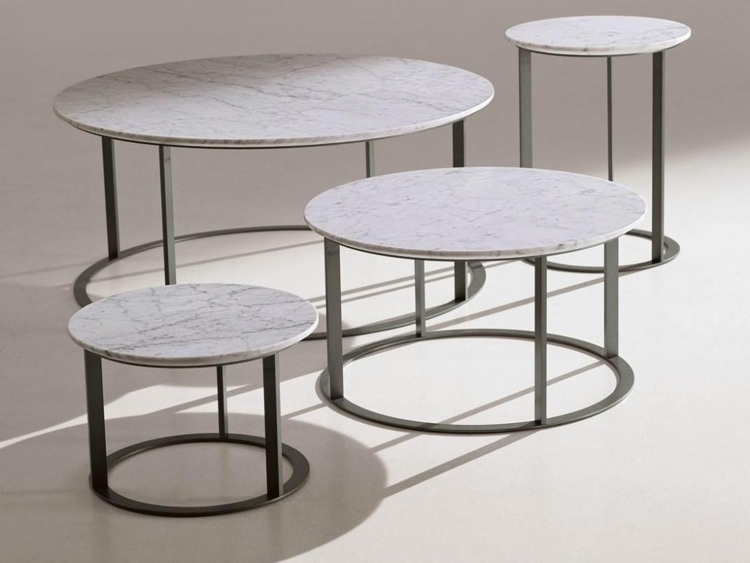 Coffee Table. Smart Round Marble Coffee Table At Your Room Ideas throughout Smart Round Marble Top Coffee Tables (Image 6 of 30)