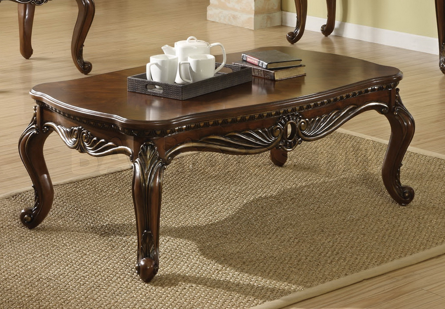Coffee Table: Traditional Wood Coffee Tables   Therefugecoffee pertaining to Traditional Coffee Tables (Image 9 of 30)