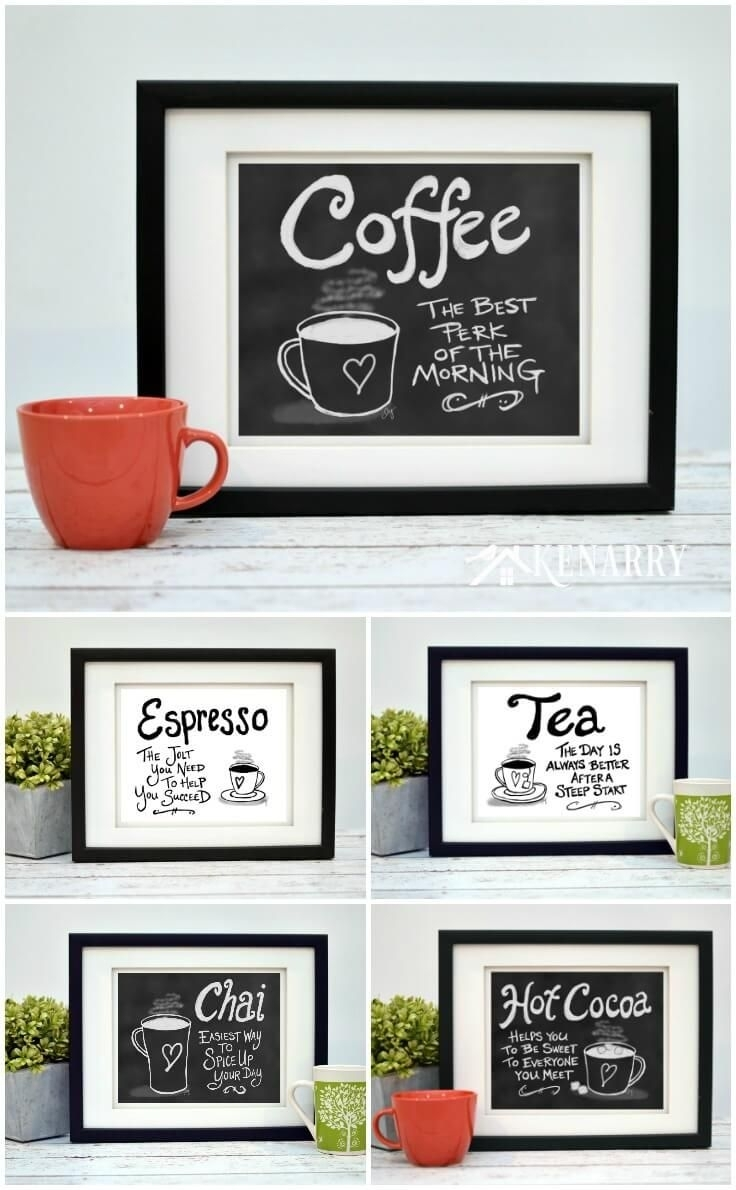 Coffee Wall Art: 10 Inexpensive Digital Kitchen Prints | Bloggers intended for Coffee Wall Art (Image 14 of 20)