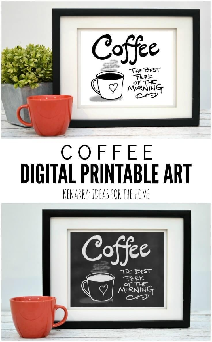 Coffee Wall Art: 10 Inexpensive Digital Kitchen Prints within Coffee Wall Art (Image 13 of 20)