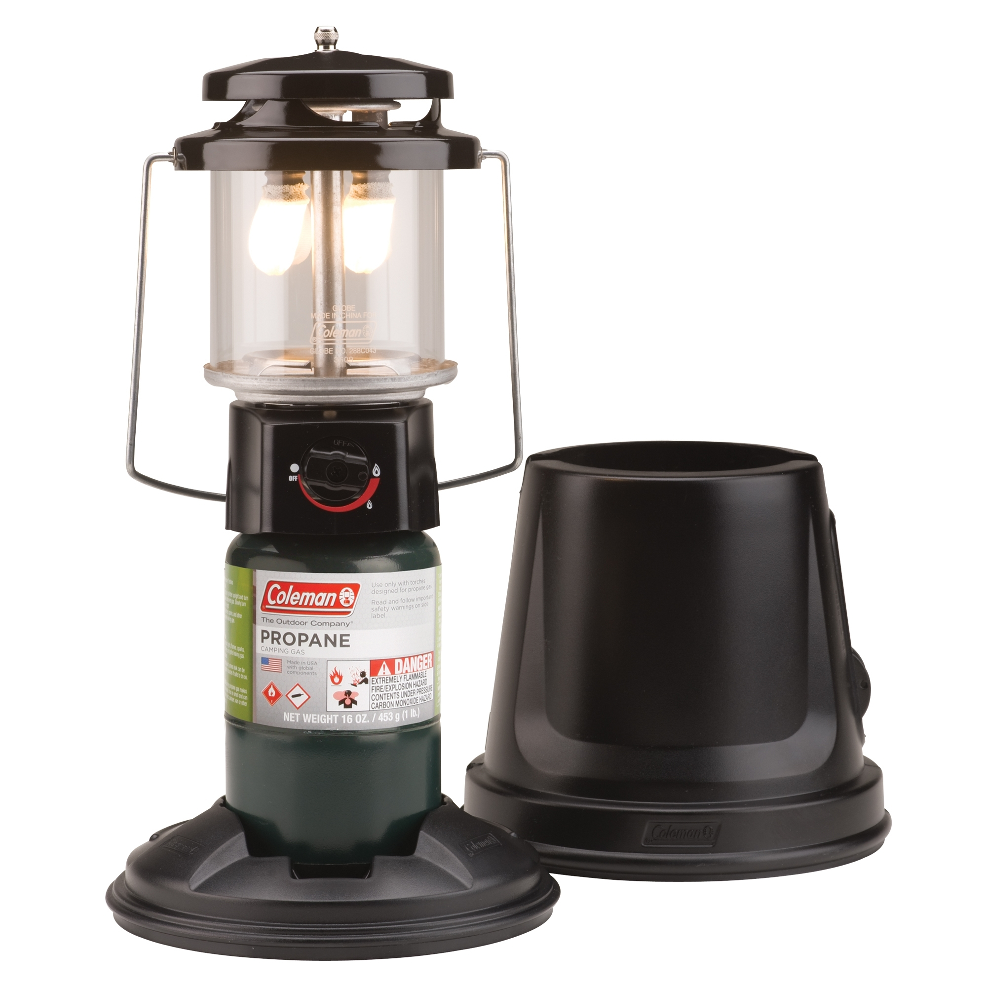 Coleman Quickpack Deluxe Propane Lantern - Walmart within Outdoor Propane Lanterns (Image 5 of 20)