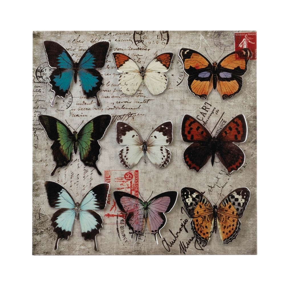 Collage Butterfly Tin Wall Art - Upc 849179026790 with Tin Wall Art (Image 4 of 20)