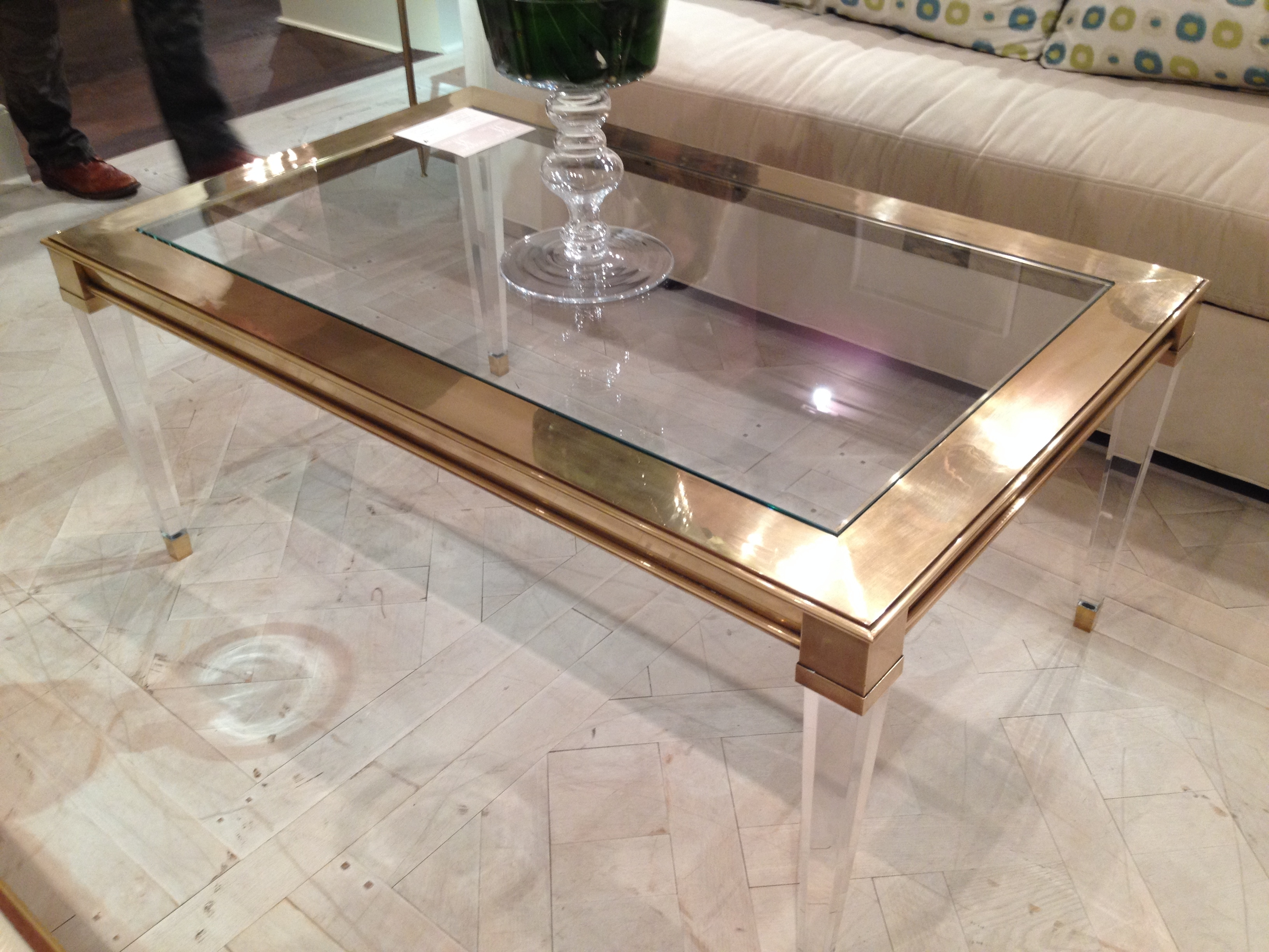 Collection In Plexiglass Coffee Table With Coffee Table Example pertaining to Acrylic Glass And Brass Coffee Tables (Image 12 of 30)