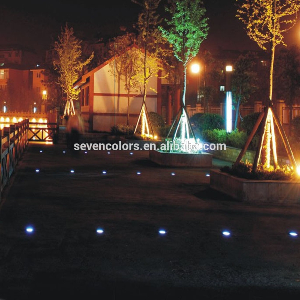 Color Changing Outdoor Lights Low Voltage/ Led Lights In Concrete within Outdoor Low Voltage Lanterns (Image 4 of 20)