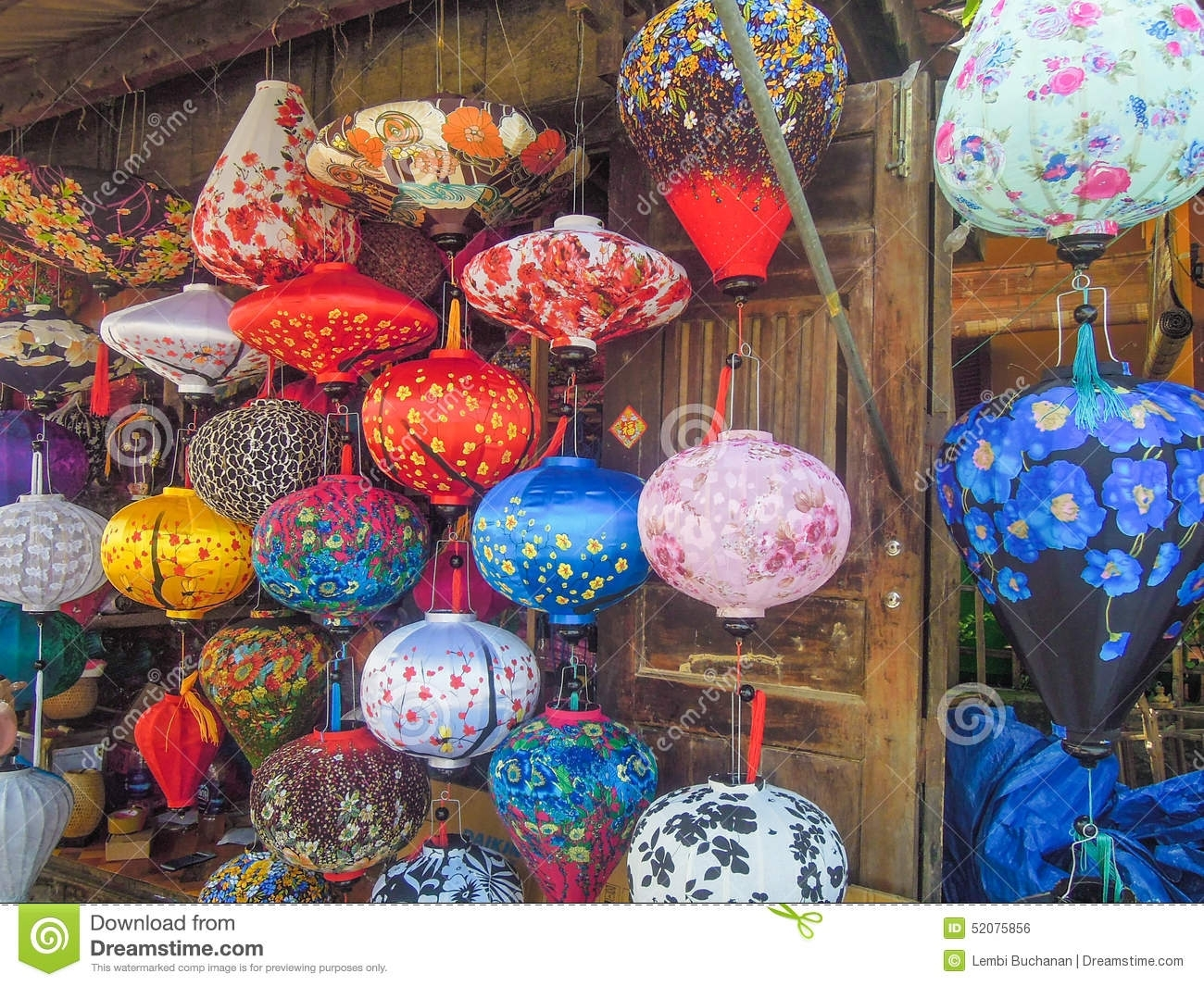 Colorful Chinese Lanterns For Sale At An Outdoor Market In Vietnam Inside Colorful Outdoor Lanterns (View 8 of 20)