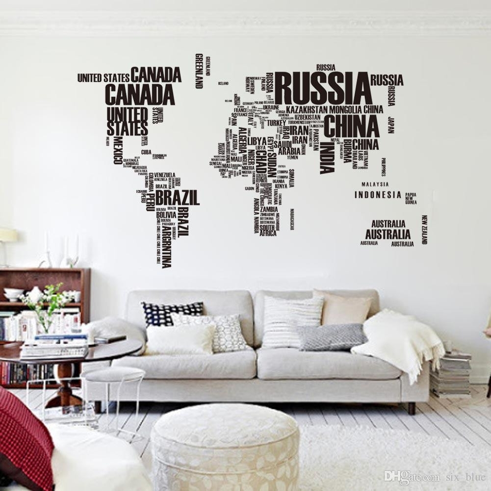 Colorful World Map Wall Art Inspirational World Map Canvas – Mehrgallery Regarding Cool Map Wall Art (View 6 of 20)