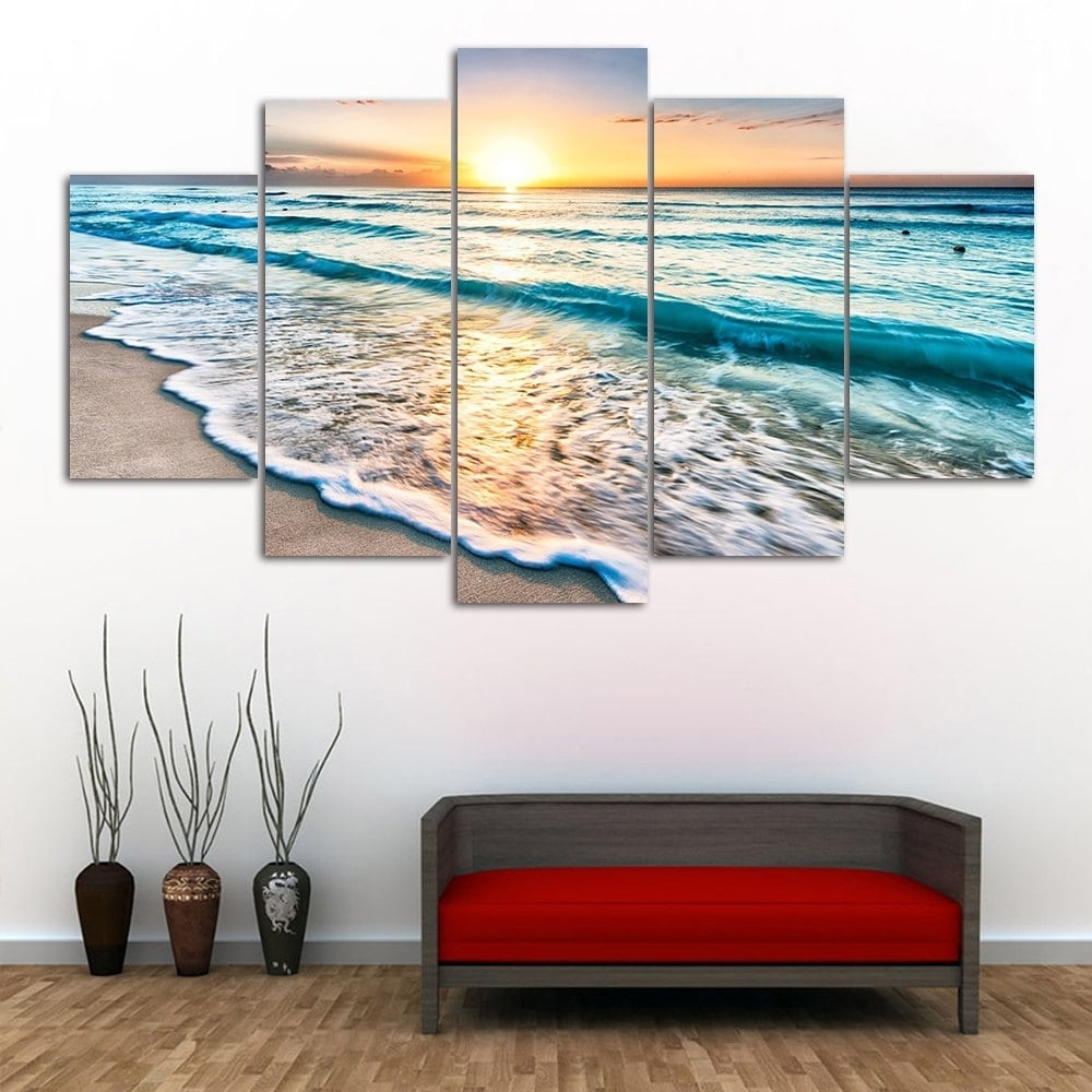 Colormix 1Pc:12*31,2Pcs:12*16,2Pcs:12*24 Inch( No Frame ) Sunset intended for Wall Art Paintings (Image 13 of 20)