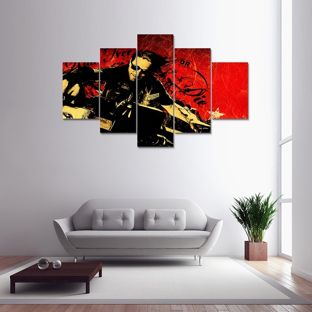 Colormix 5 Panel Canvas Print Painting Home Decoration Wall Art Pertaining To 5 Panel Wall Art (View 11 of 20)