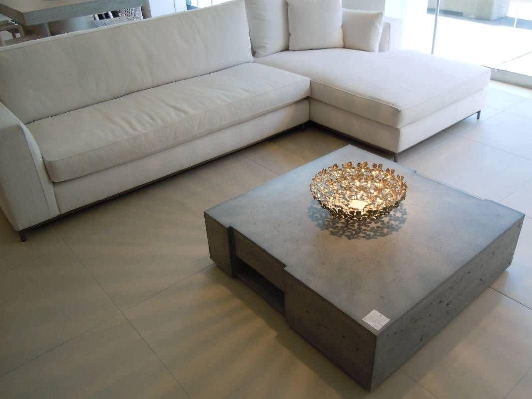 Concrete Block Coffee Table : Concrete Coffee Table With Wooden with Element Coffee Tables (Image 13 of 30)