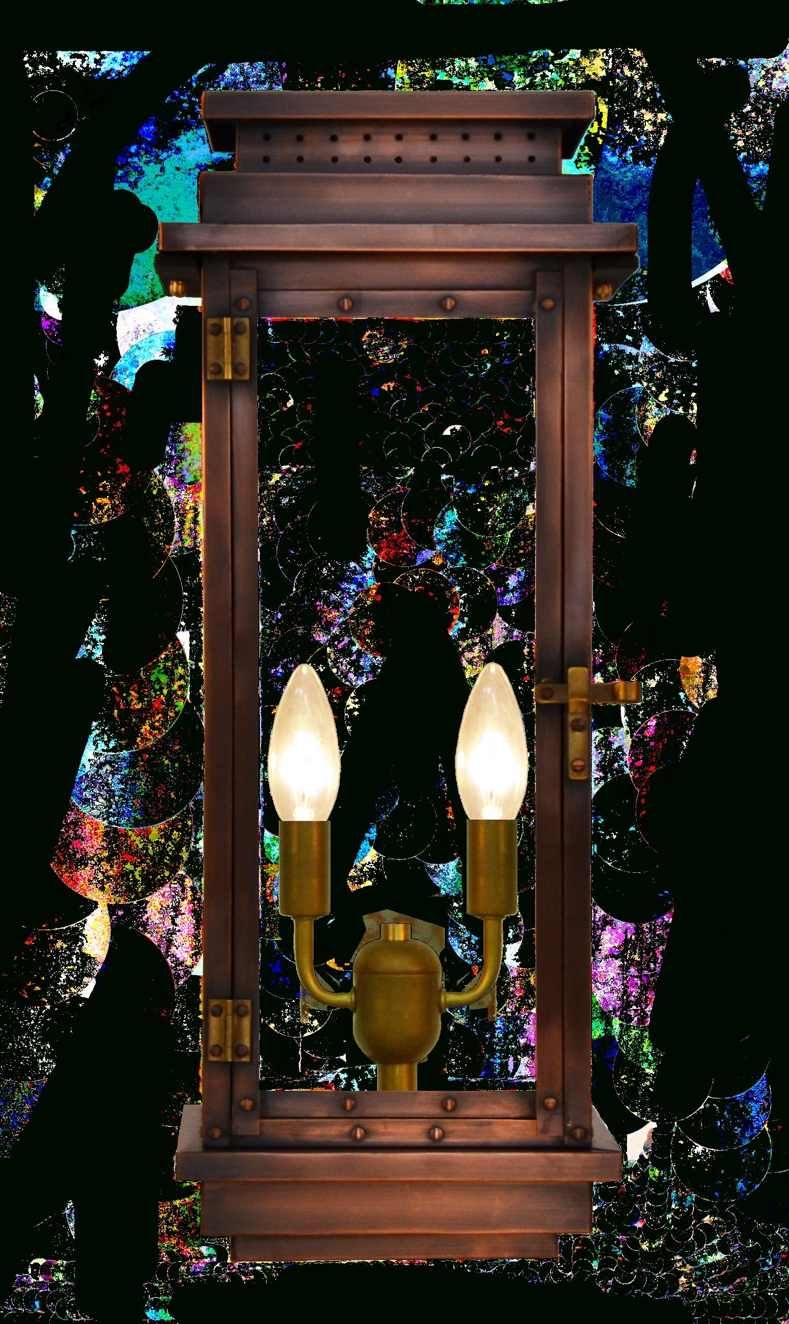 Contempo Gas Or Electric Copper Lantern - Outdoor Lighting & Lamps in Copper Outdoor Electric Lanterns (Image 5 of 20)