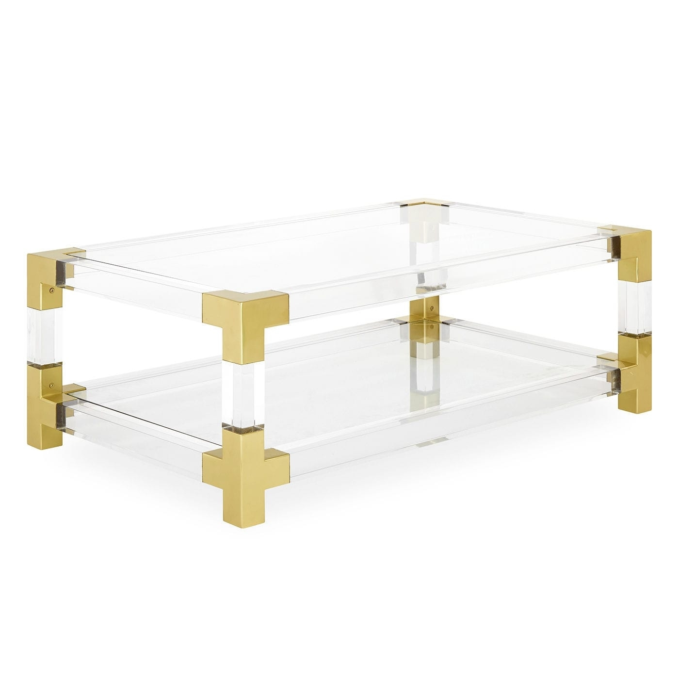 Contemporary Coffee Table / Glass / Brushed Brass / Acrylic with regard to Acrylic & Brushed Brass Coffee Tables (Image 9 of 20)