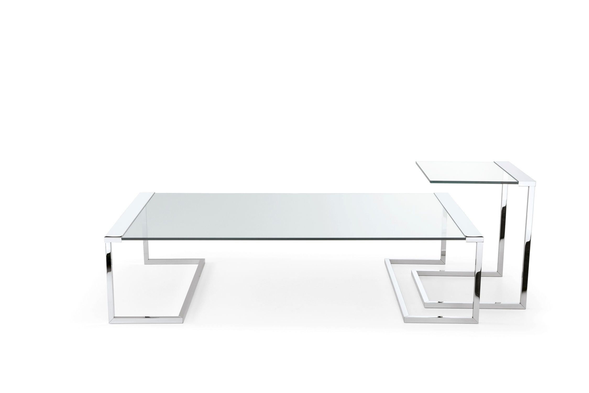 Contemporary Coffee Table / Metal / Tempered Glass / Rectangular with Acrylic Glass And Brass Coffee Tables (Image 14 of 30)