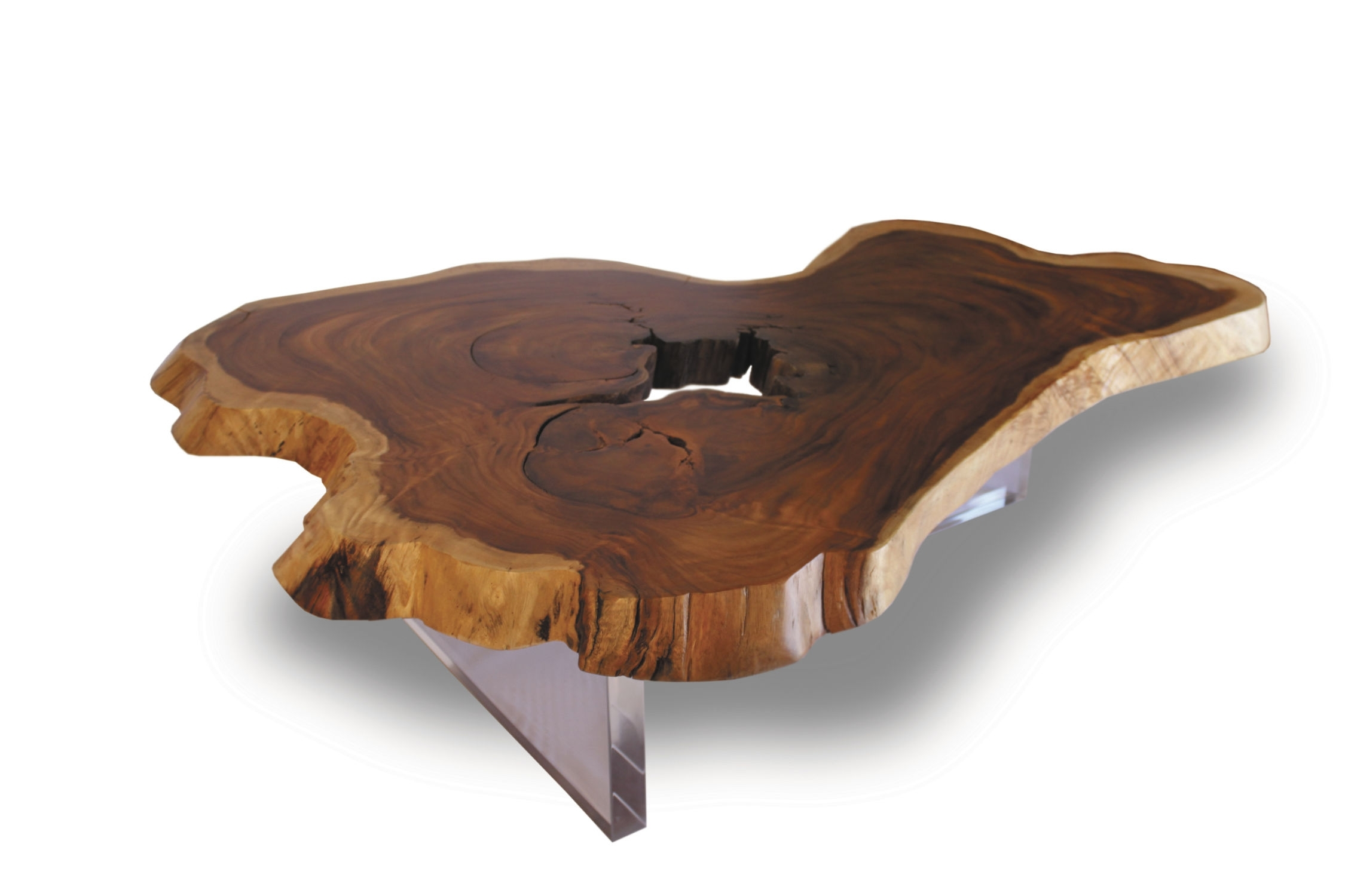 Contemporary Coffee Table / Wooden / In Reclaimed Material Within Sliced Trunk Coffee Tables (View 9 of 30)