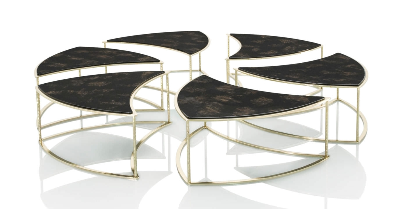 Contemporary Coffee Table / Wooden / Round / Modular - Telemaque inside Modular Coffee Tables (Image 2 of 30)