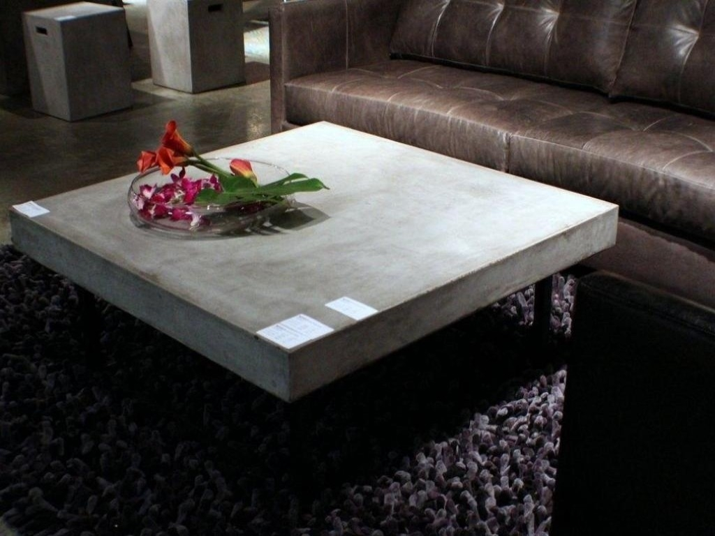 Contemporary Concrete Coffee Table — The New Way Home Decor pertaining to Element Coffee Tables (Image 14 of 30)