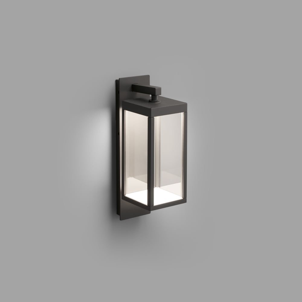 Contemporary Dark Grey Led Outdoor Wall Lantern | Lighting Company in Outdoor Grey Lanterns (Image 2 of 20)