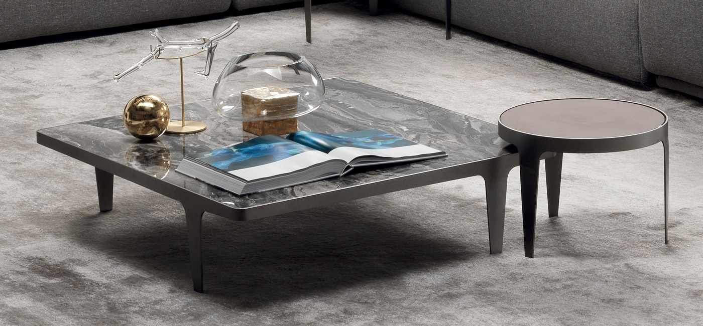 Contemporary Design Coffee Tables | Natuzzi Italia Within Go Cart White Rolling Coffee Tables (View 18 of 30)