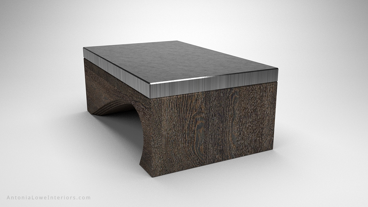 Contemporary Solid Curve Bottom Coffee Table - Interior Designer inside Contemporary Curves Coffee Tables (Image 12 of 30)