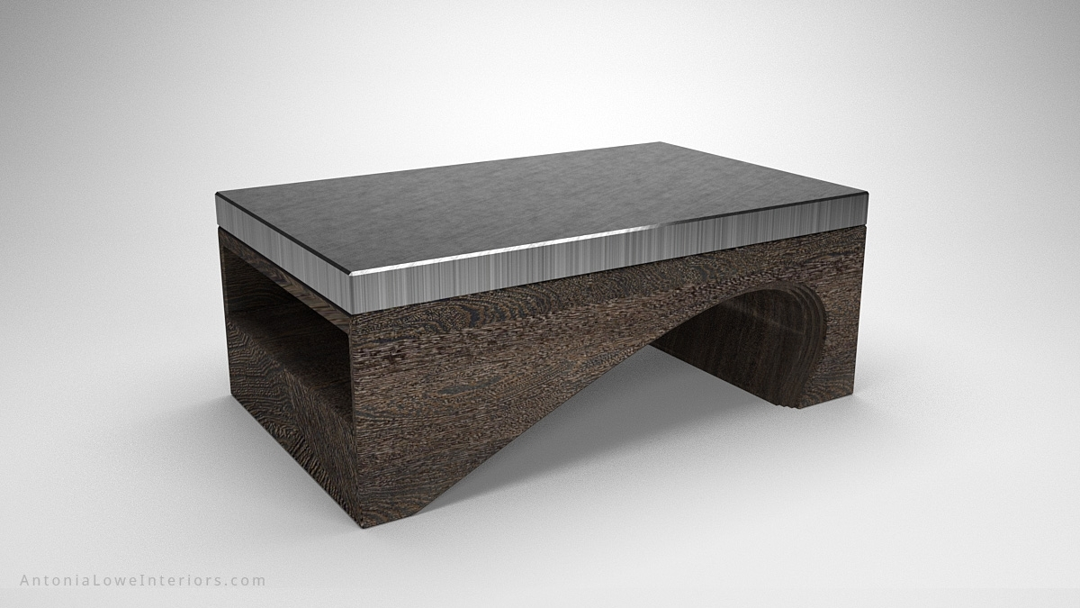 Contemporary Solid Curve Bottom Coffee Table - Interior Designer inside Contemporary Curves Coffee Tables (Image 11 of 30)