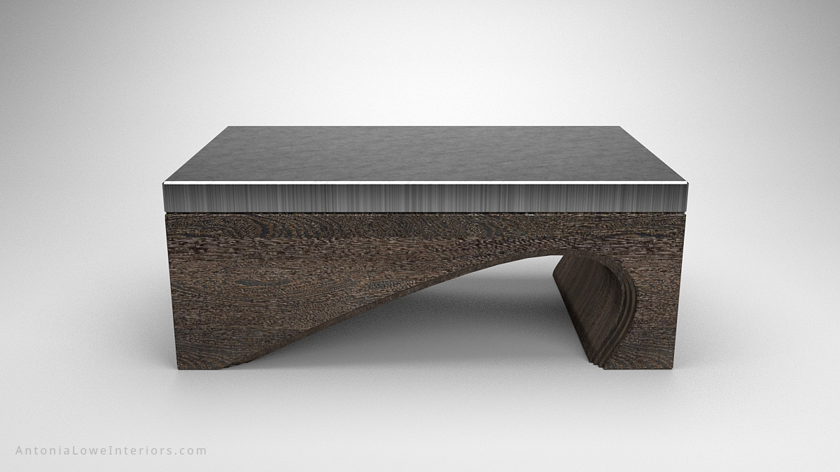 Contemporary Solid Curve Bottom Coffee Table - Interior Designer throughout Contemporary Curves Coffee Tables (Image 13 of 30)