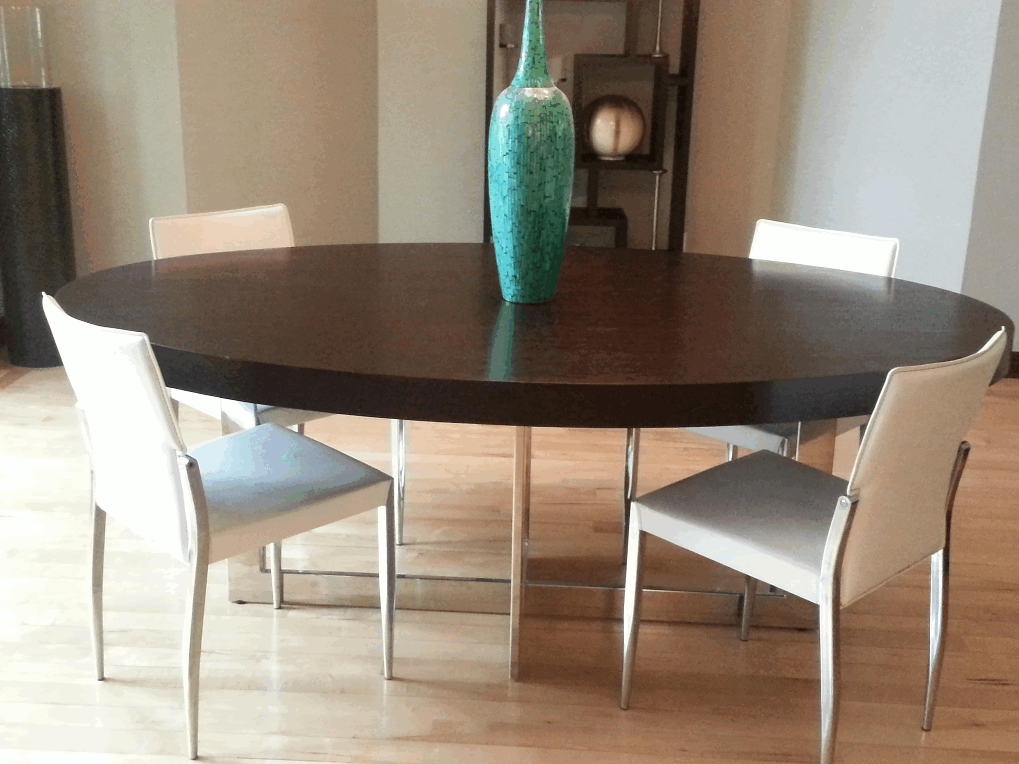 Contemporary Wood Dining Chairs Large Brown Varnished Wooden Display In Batik Coffee Tables (Photo 12 of 30)