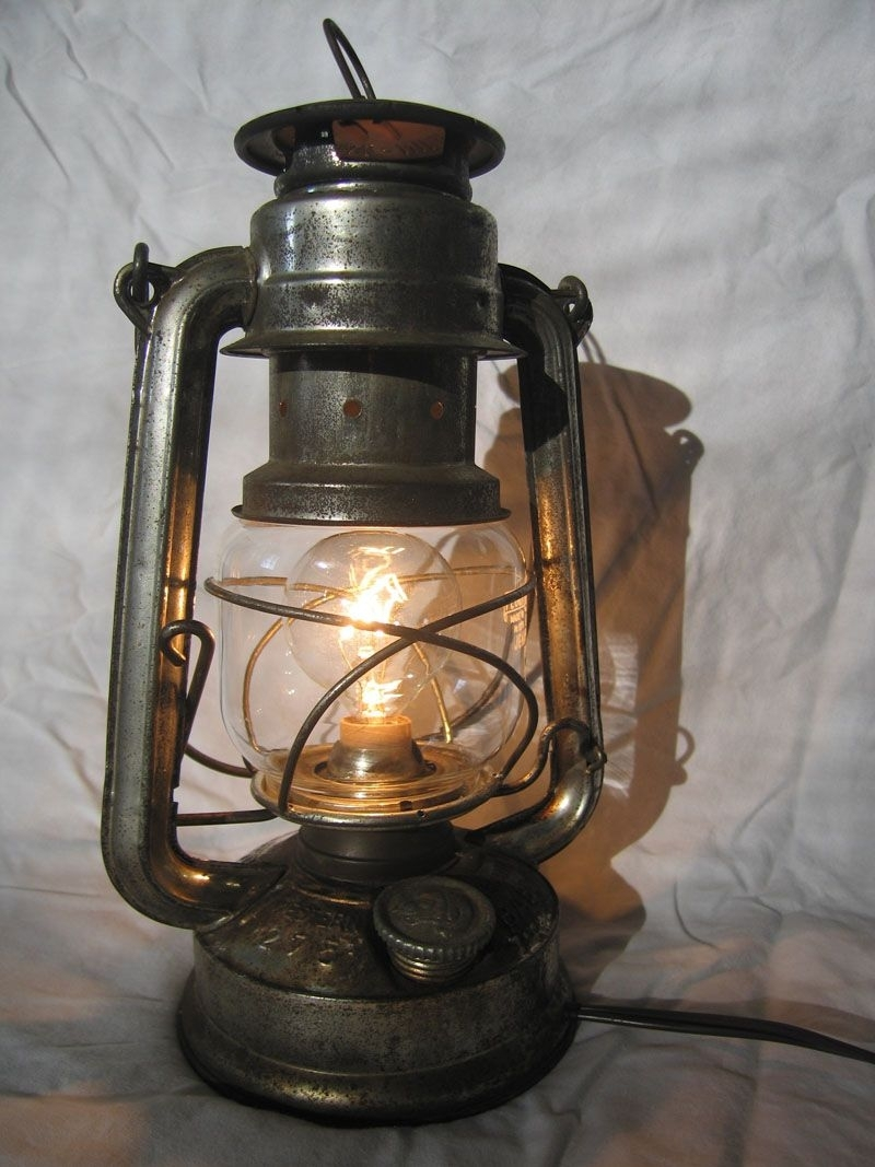 Convert A Kerosene Lantern Into An Electric Lamp. Yes! | Boy's Room pertaining to Decorative Outdoor Kerosene Lanterns (Image 9 of 20)
