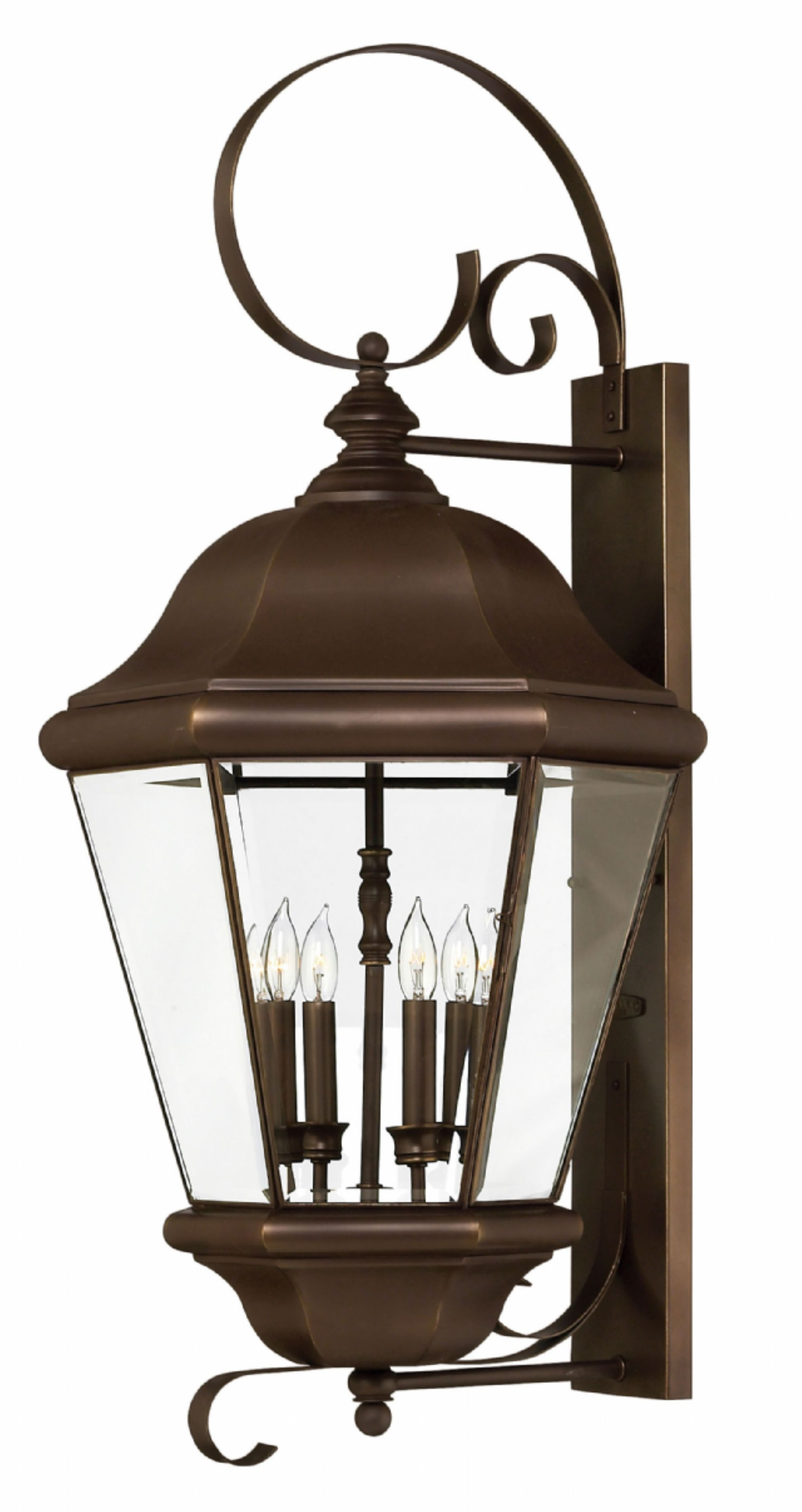 Copper Bronze Clifton Park > Exterior Wall Mount with Copper Outdoor Lanterns (Image 4 of 20)
