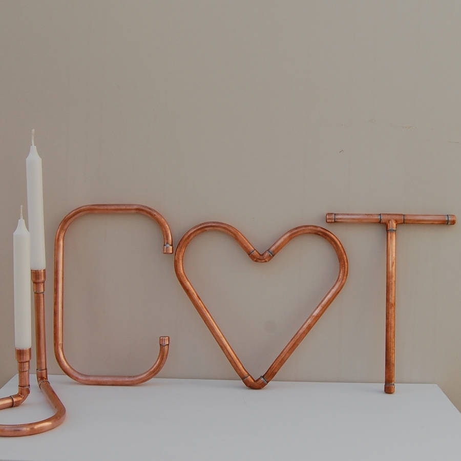 Copper Decorative Letters And Symbols Wall Artcopper & Hall for Copper Wall Art (Image 4 of 20)