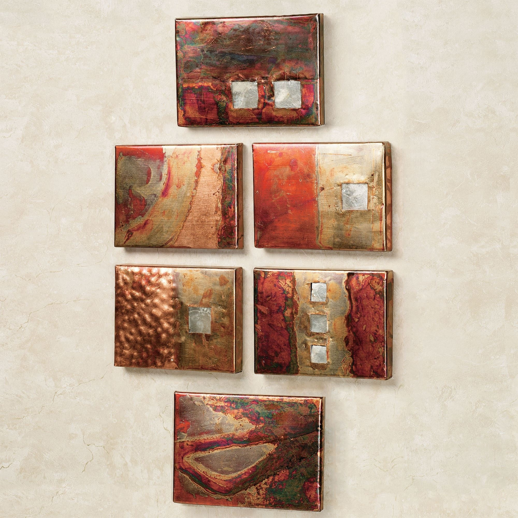 Copper Studio Metal Wall Art Plaque Set intended for Copper Wall Art (Image 6 of 20)