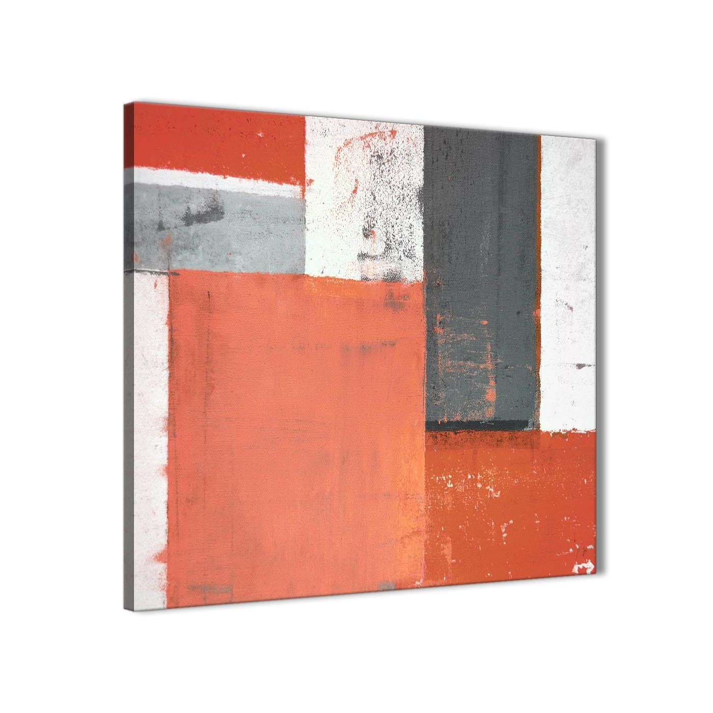 Coral Grey Abstract Painting Canvas Wall Art Pictures - Modern 49Cm inside Coral Wall Art (Image 2 of 20)