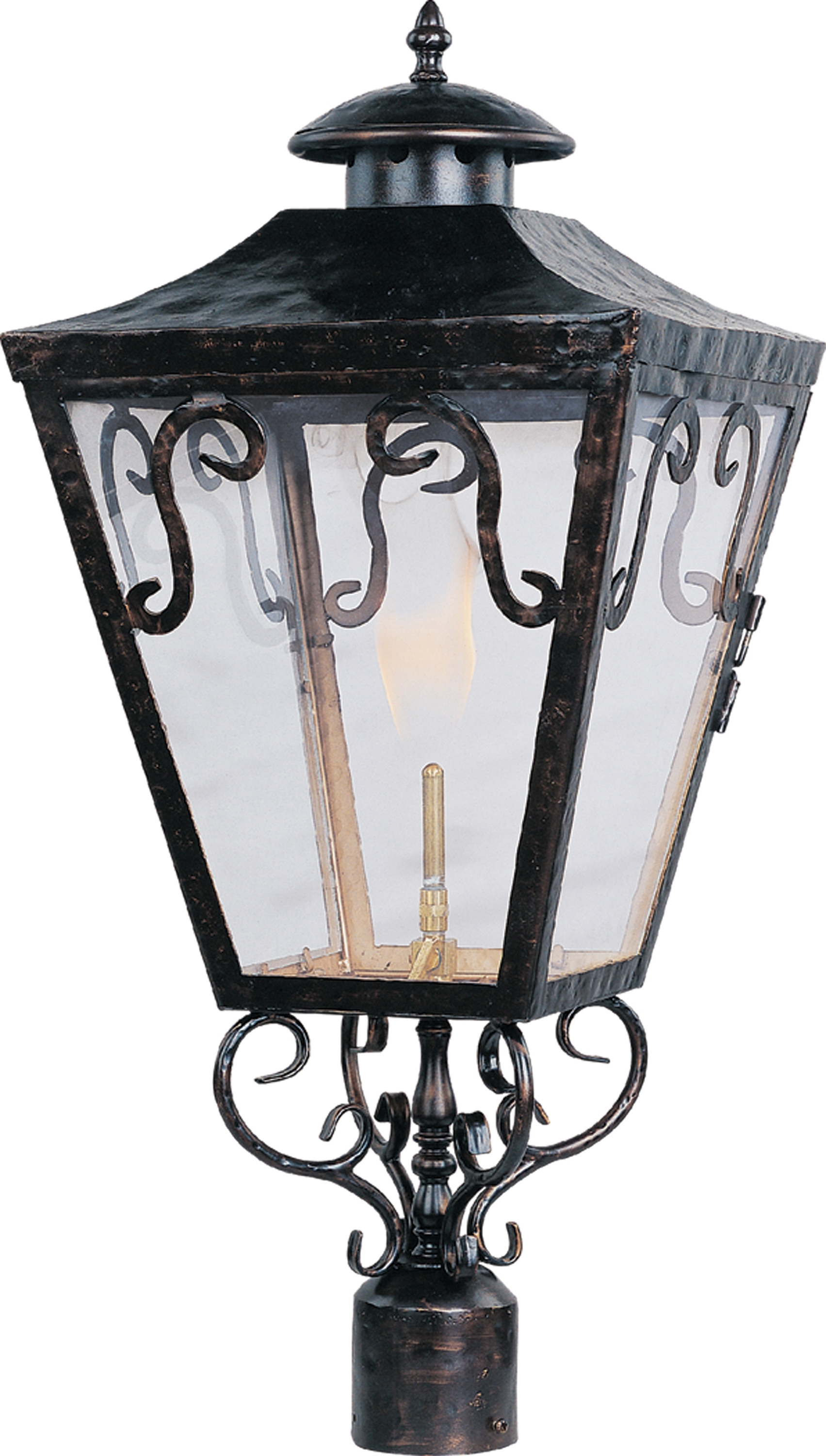 Cordoba Outdoor Post Gas Lantern - Outdoor Pole/post Mount - Maxim pertaining to Outdoor Pole Lanterns (Image 7 of 20)
