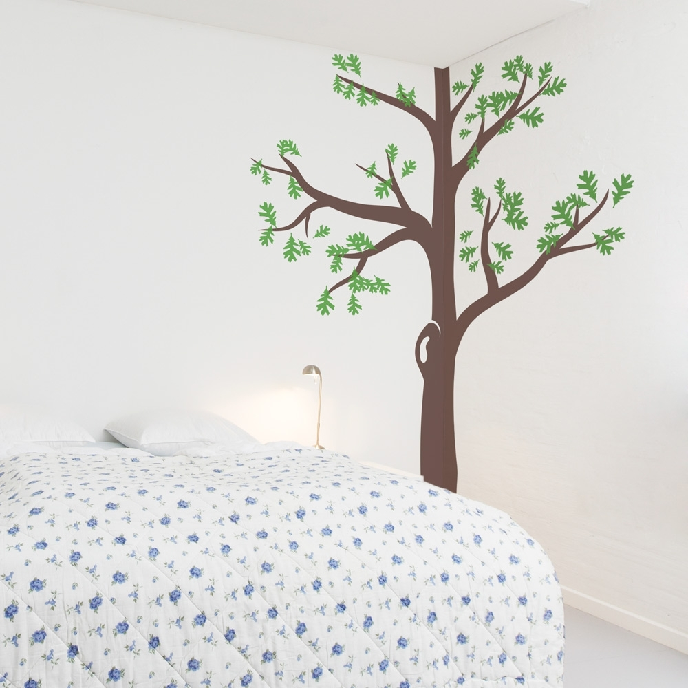 Corner Tree Wall Decal Gallery Of Art Wall Sticker Wood - Best Home with regard to Corner Wall Art (Image 8 of 20)
