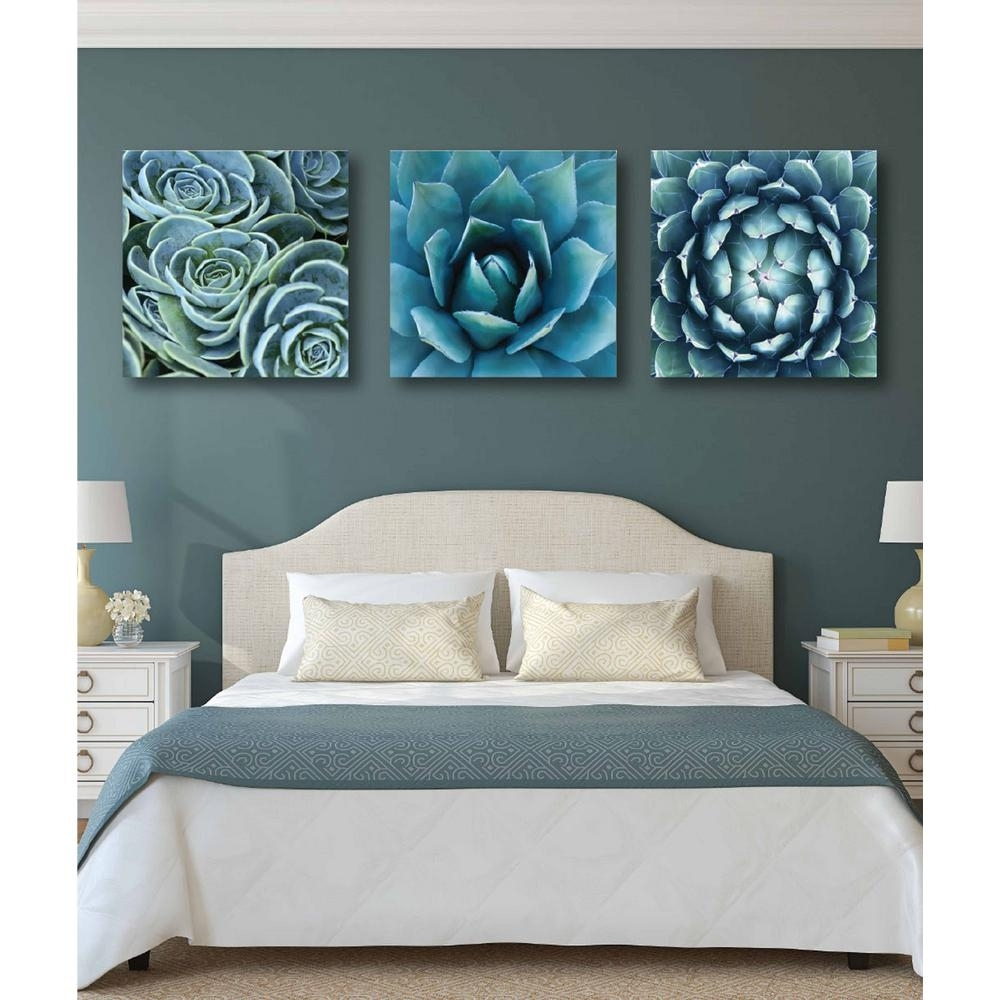 "Courtside Market 3-Piece Set: 30 In. X 30 In. ""succulent Gallery within 3 Piece Wall Art (Image 12 of 20)"