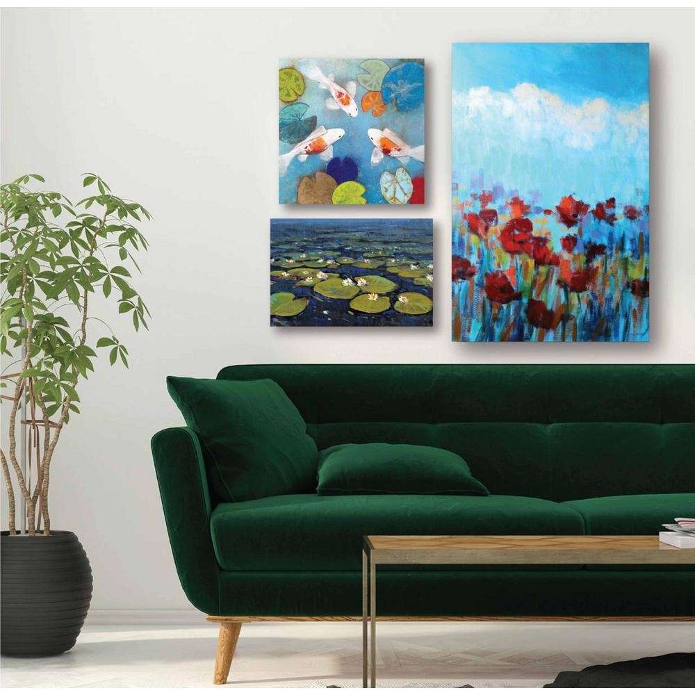 "Courtside Market ""water Lilies Gallery Wall Collection"" Printed Wall intended for Multi Piece Wall Art (Image 9 of 20)"