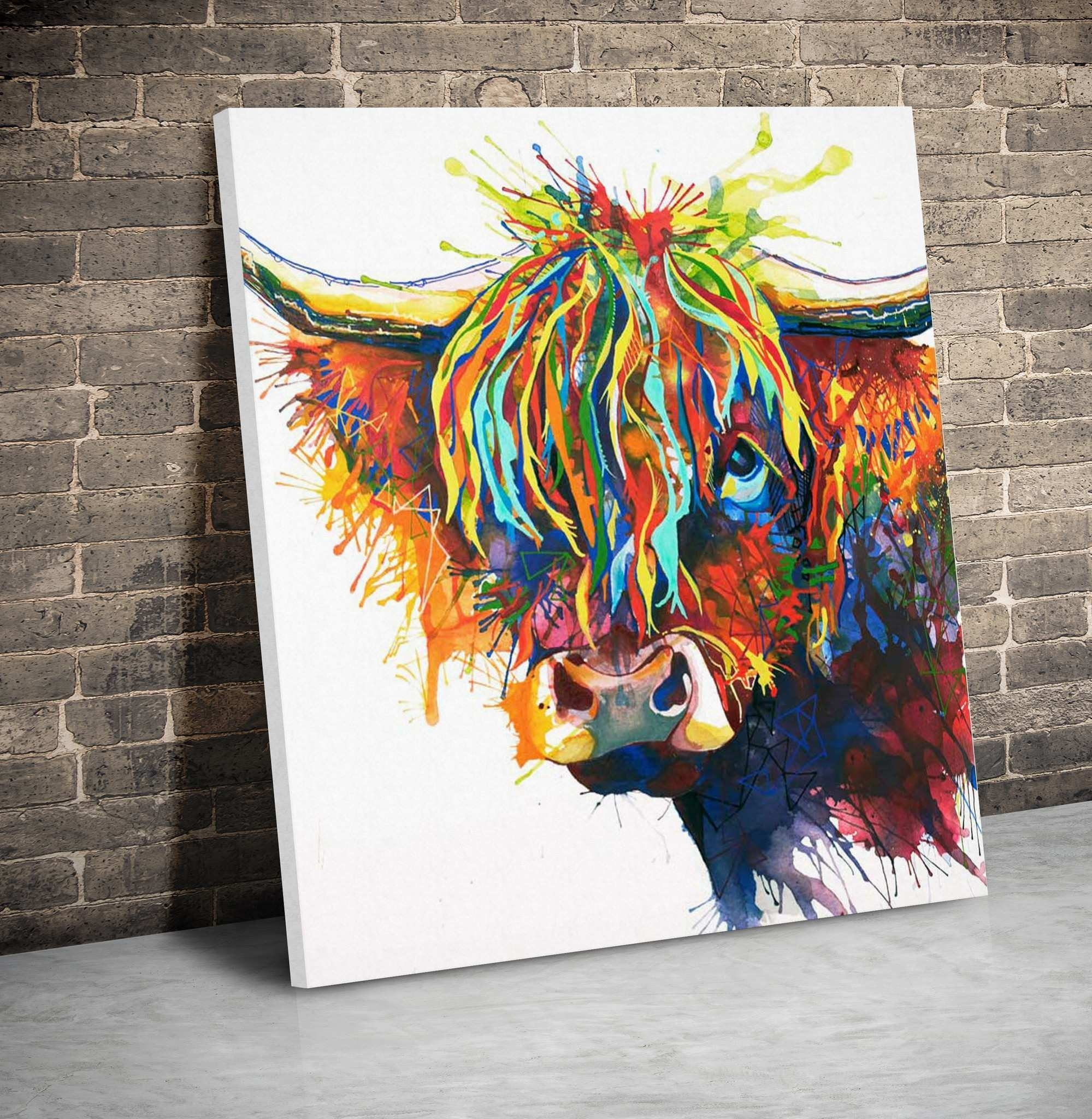 Cow Painting On Canvas Beautiful Highland Fling Canvas | Painting Ideas Throughout Cow Canvas Wall Art (View 10 of 20)