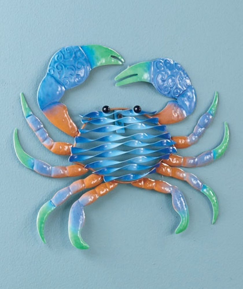 Crab Wall Decor Unique 1 Crab Metal Sea Life Wall Art Animal Ocean pertaining to Sea Life Wall Art (Image 5 of 20)