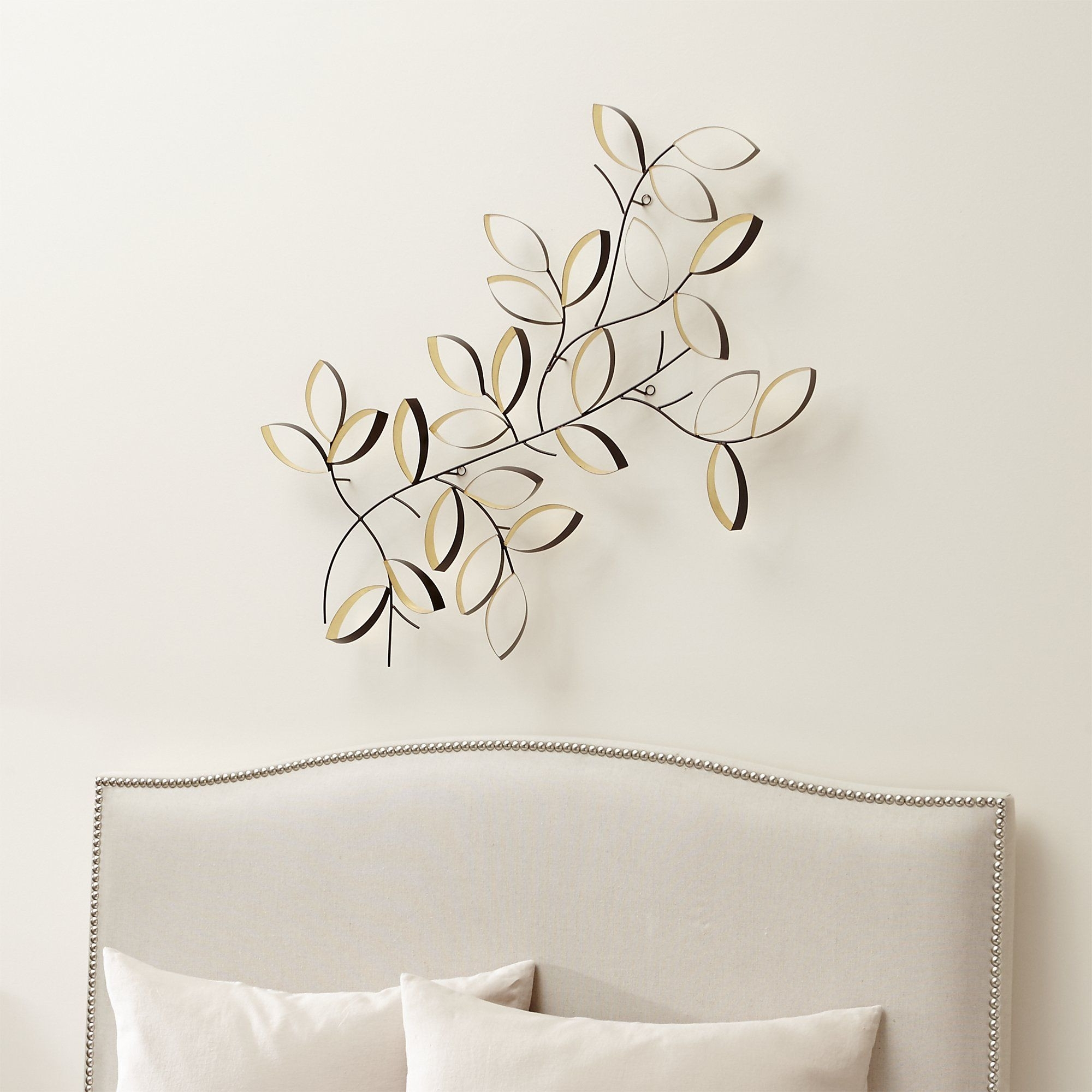 Crate And Barrel Decorative Pillows Best Of Golden Leaves Wall Art in Crate And Barrel Wall Art (Image 9 of 20)